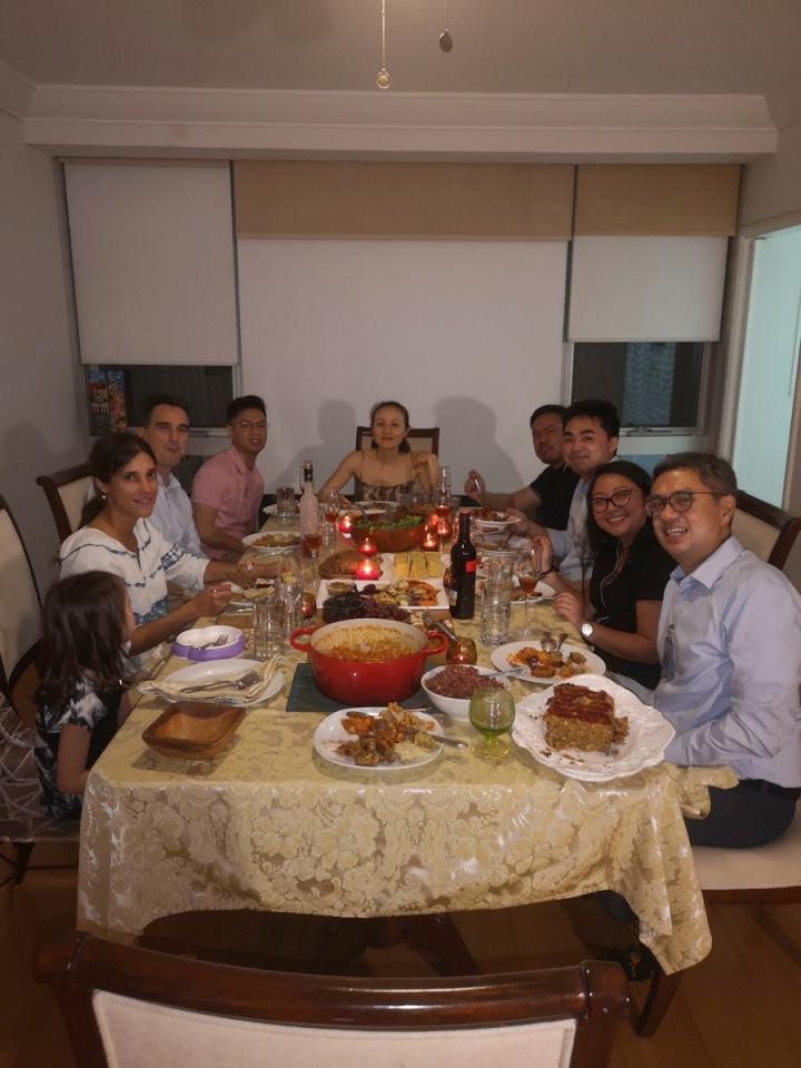 Friendsgiving dinner 2019